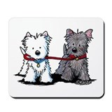 Walking Buddy Terriers Mousepad