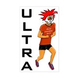 Run Zombie Run Ultra Rectangle Decal