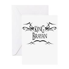 King Brayan Greeting Card