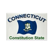 Constitution State Rectangle Magnet