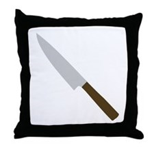 chef kitchen knife Throw Pillow