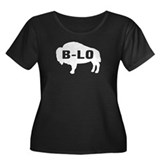 B-LO Women's Plus Size Scoop Neck Dark T-Shirt
