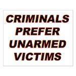 16x20 Criminals' Preference Poster