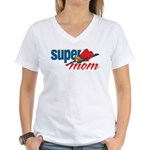 SuperMom Women's V-Neck T-Shirt