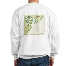 1833 Map of Portsmouth NH Sweatshirt