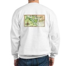 1815 Map of Portsmouth NH Sweatshirt