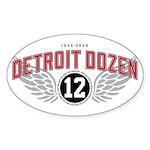 The Detroit Dozen Oval Sticker (50 pk)