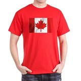 Canadian Flag Black T-Shirt