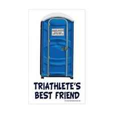 Triathlete's Best Friend Rectangle Decal