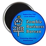 "Zombie Business Bureau 2.25"" Magnet (10 pack)"