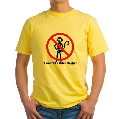 Not a Belay Monkey Yellow T-Shirt