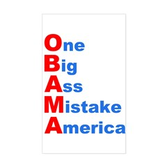 One Big Ass Mistake America Rectangle Sticker