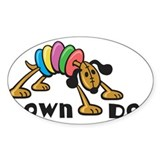 Down Dog Oval Decal