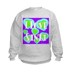 I Love Santa Kids Sweatshirt