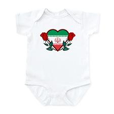 Heart Iran Infant Bodysuit