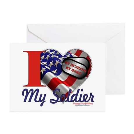I love My Soldier Logo 1 Greeting Cards (Pk of 10)