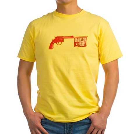 Joke Bachelor Gun Yellow T-Shirt