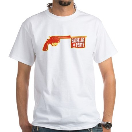 Joke Bachelor Gun White T-Shirt