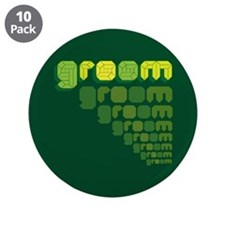 "Green Groom Blox 3.5"" Button (10 pack)"