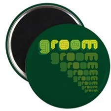 Green Groom Blox Magnet
