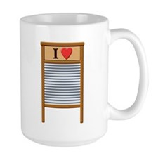 I Heart Washboard Mug