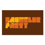 Mafia Bachelor Party Rectangle Sticker 10 pk)
