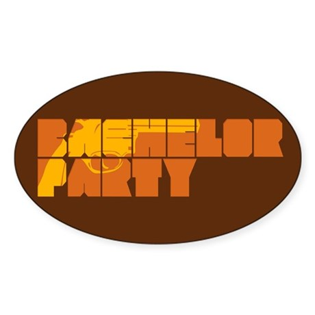 Mafia Bachelor Party Oval Sticker
