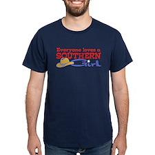 Everyone Loves a Southern Gir Black T-Shirt