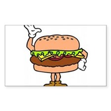 Burger Man Rectangle Sticker 10 pk)