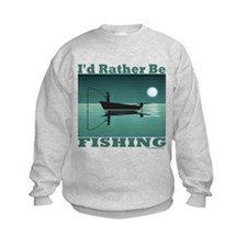 I'd Rather Be Fishing Kids Sweatshirt