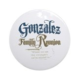 Gonzalez Family Reunion Ornament (Round)