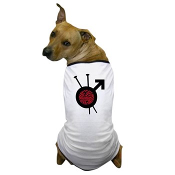 Men Who Knit Dog T-Shirt