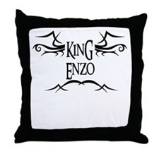 King Enzo Throw Pillow