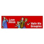 Love Jesus Bumper Sticker (50 pk)