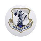 US Air National Guard Ornament (Round)