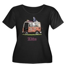 Jeremy VW Van Women's Plus Size Scoop Neck Dark T-