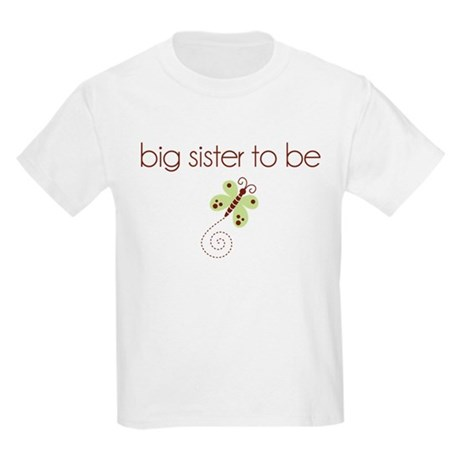 big sister to be dragonfly Kids Light T-Shirt