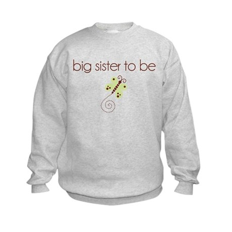 big sister to be dragonfly Kids Sweatshirt