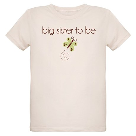 big sister to be dragonfly Organic Kids T-Shirt