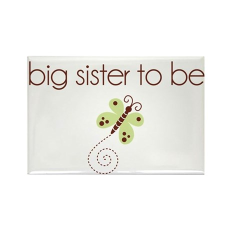 big sister to be dragonfly Rectangle Magnet