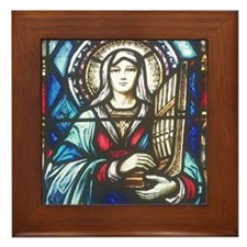 St Cecilia Framed Tile