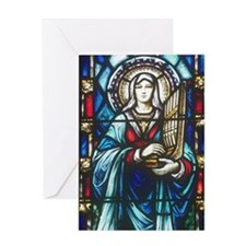 St Cecilia Greeting Card