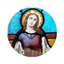 Saint Cecilia Ornament (Round)