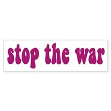 Stop The War Bumper Bumper Sticker