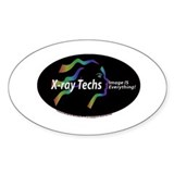 X-ray Techs Image is Everythi Oval Decal