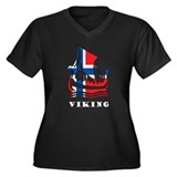 Norway Viking Women's Plus Size V-Neck Dark T-Shir