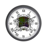 Adams Tartan Shield Wall Clock
