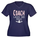 Coach Likes Me Best Women's Plus Size V-Neck Dark