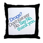 No thank you Throw Pillow