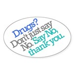 No thank you Oval Sticker (10 pk)